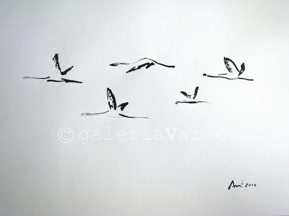 خربشة سرب طيور