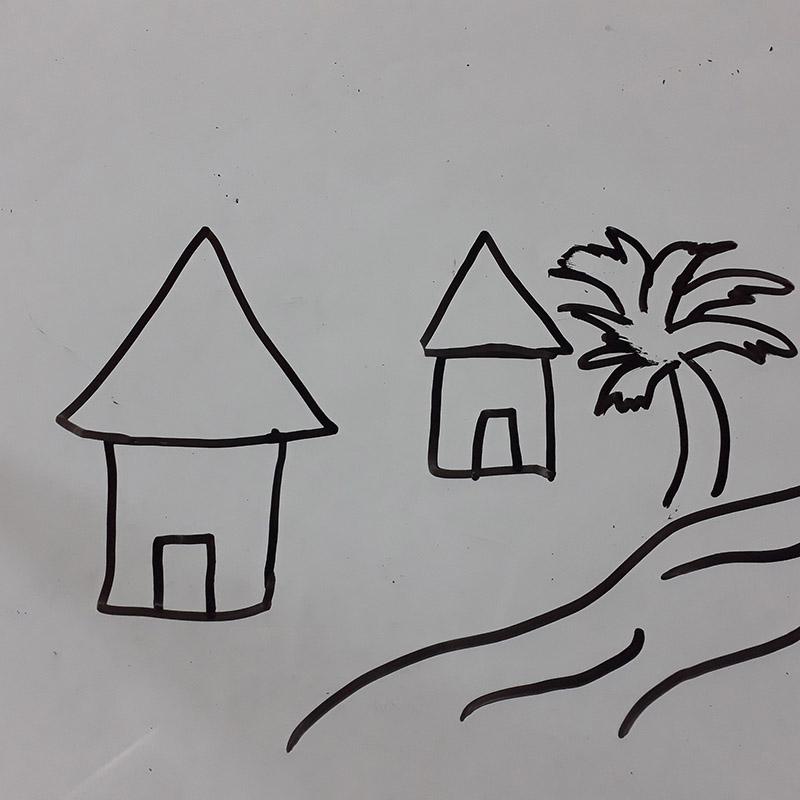 بيت ريفي في طبيعة