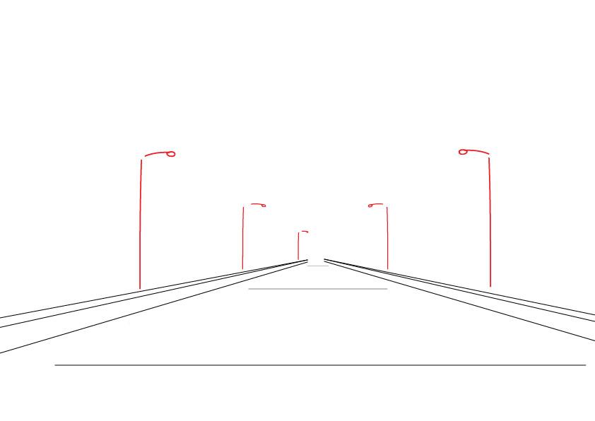 رسم شارع ثلاثي الأبعاد