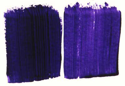 A comparison between professional and student grade versions of Dioxazine Purple
