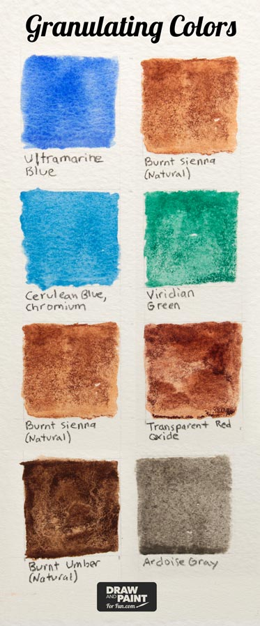 Watercolor Granulation : watercolor, granulation, Watercolor, Grainy?, Paint