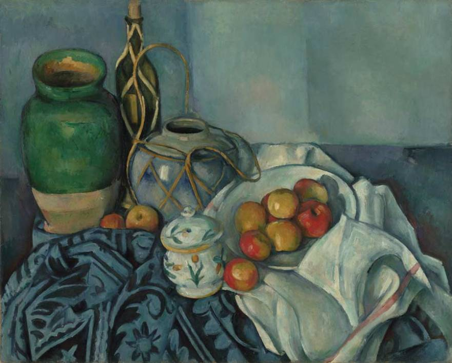 An example of a Cézanne painting that doesn't have a signature on the front.
