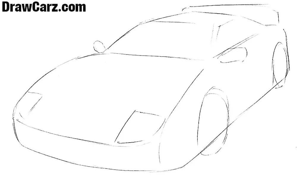 How to Draw a Ferrari Easy | DrawCarz