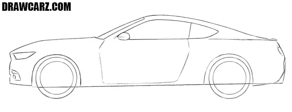 Supercars Gallery: Ford Mustang Gt Drawing
