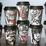 Disposable Coffee Cups Turned Into Amazing Pieces Of Art