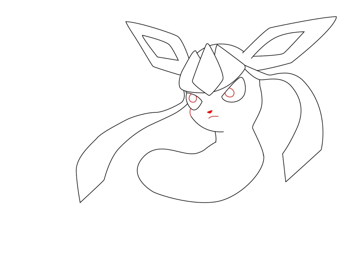 How To Draw Glaceon (6)