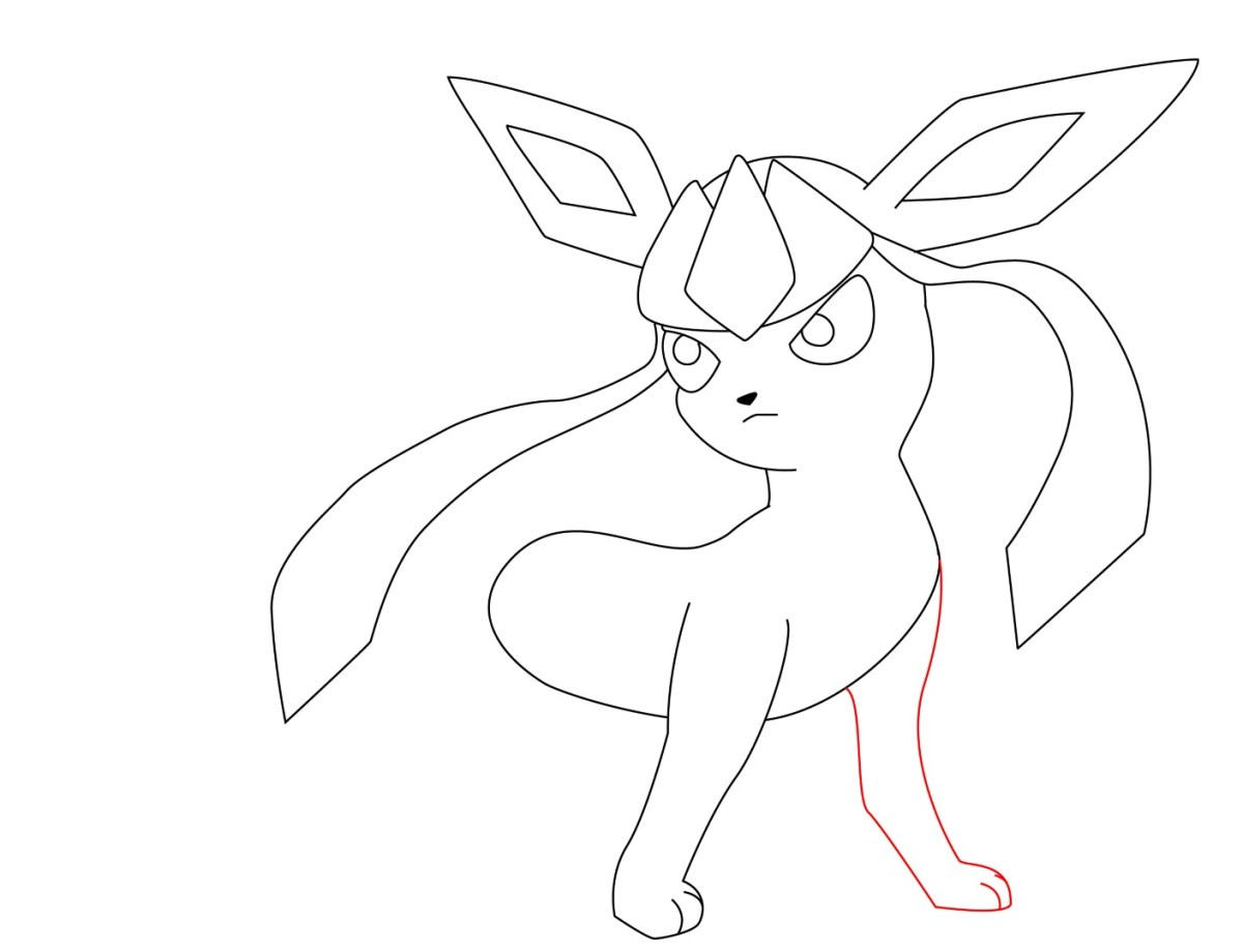 How To Draw Glaceon (8)
