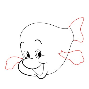 how-to-draw-flounder-little-mermaid (5)