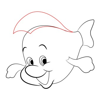 how-to-draw-flounder-little-mermaid (6)