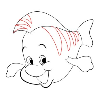 how-to-draw-flounder-little-mermaid (7)