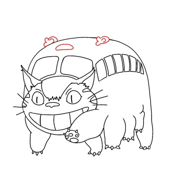 How To Draw Catbus From My Neighbor Totoro 11