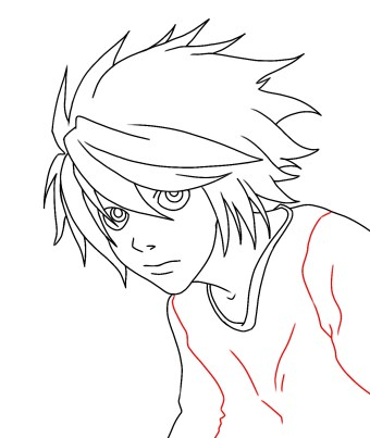 How To Draw L From Death Note Step 10