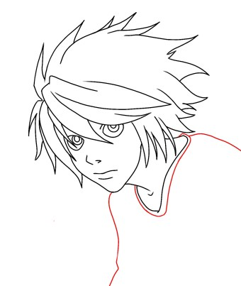 How To Draw L From Death Note Step 9