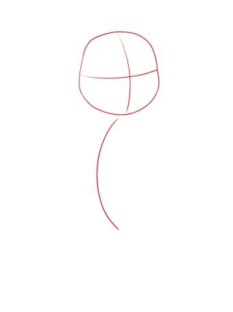How To Draw Baby Moana Step 1