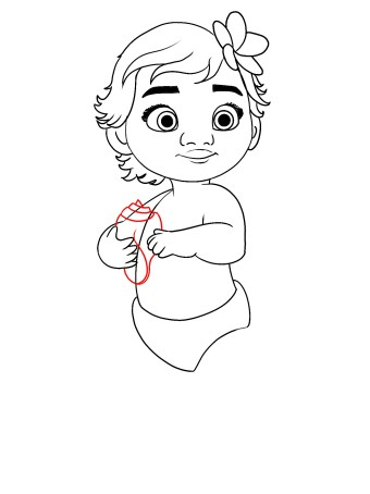 How To Draw Baby Moana Step 11