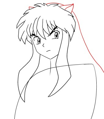 How To Draw Inuyasha Step 6