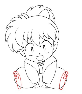 How To Draw Shippo Step 11