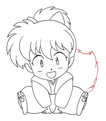 How To Draw Shippo Step 12