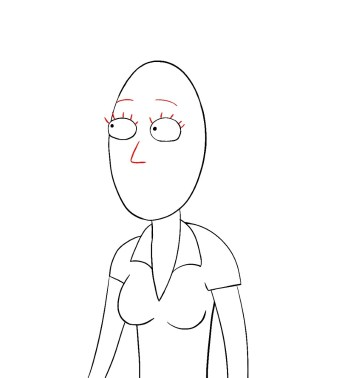 How To Draw Beth Rick And Morty Step 6