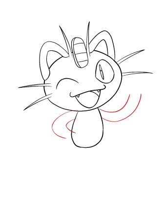 How To Draw Meowth Step 8
