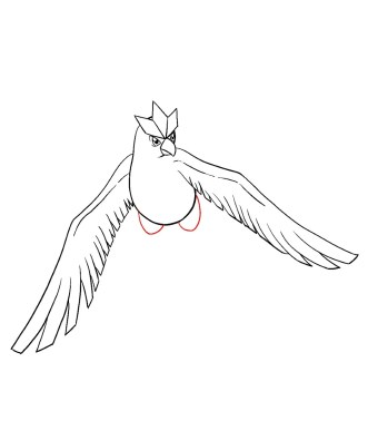 How To Draw Articuno Step 9