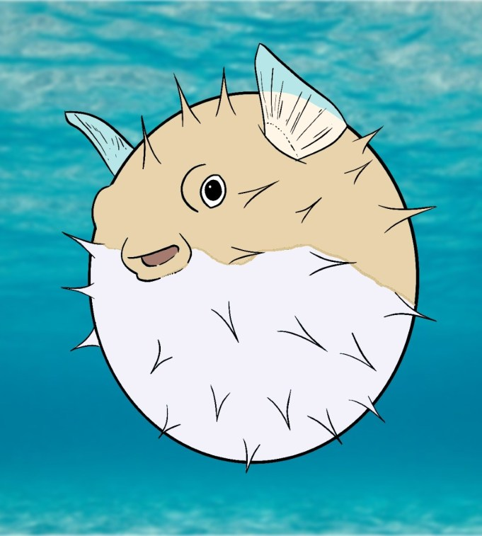 How To Draw A Puffer Fish Step 8