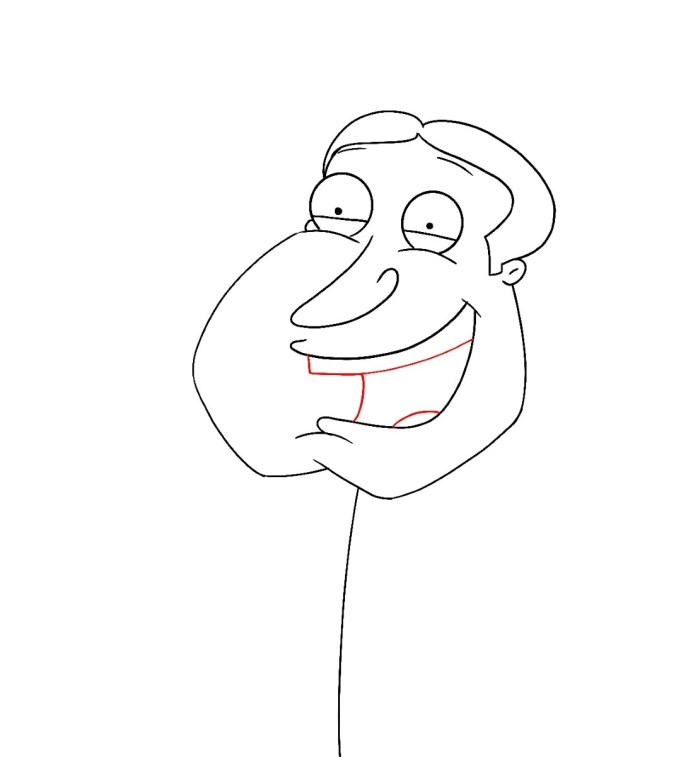 How To Draw Quagmire Family Guy Step 7