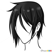 anime hair drawing easy lesson