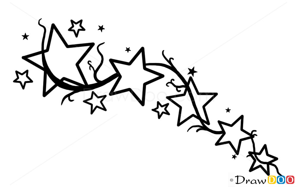 Star tattoos for men, How to Draw Tattoo Designs