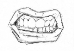 drawing mouth draw mouths teeth drawings easy open coloring simple basic realistic things angry sketches step sketching tips faces expressions