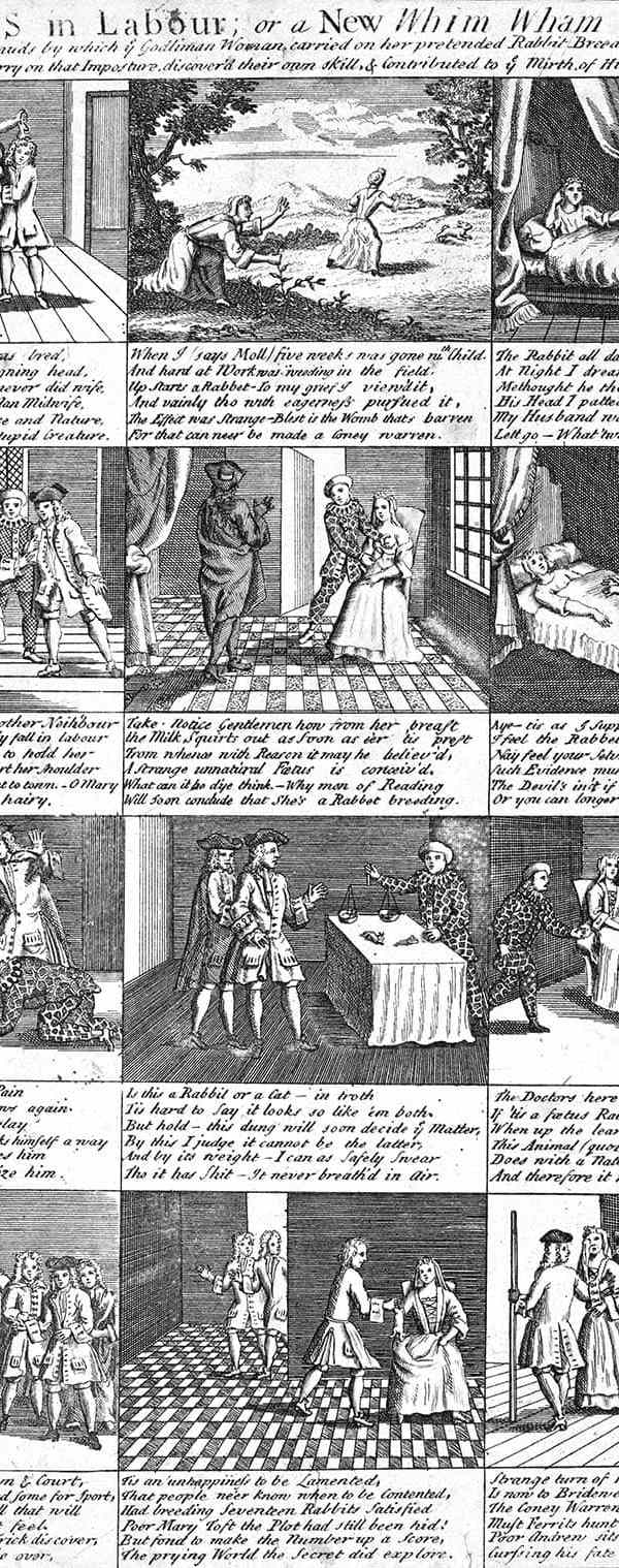 Fig.12: The doctors in labour; or a new whim wham from Guildford (1726)
