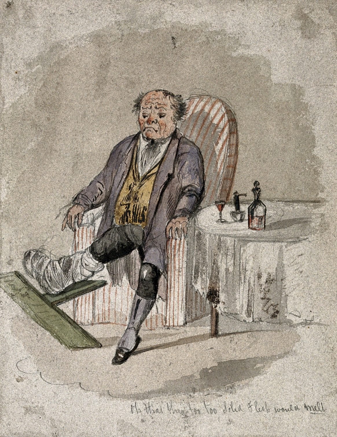 Seated Gouty Man, Artist Unknown, Date Unknown, Wellcome Collection
