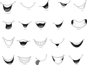 mouth smiling cartoon vector draw drawing easy mouths expressive illustration face shutterstock facial open