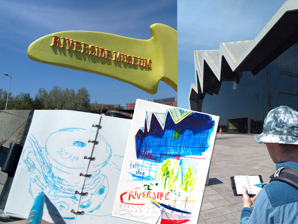 Drawing Outside – Riverside Museum