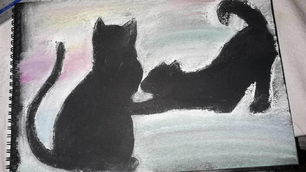 Elaine's cats artwork ?