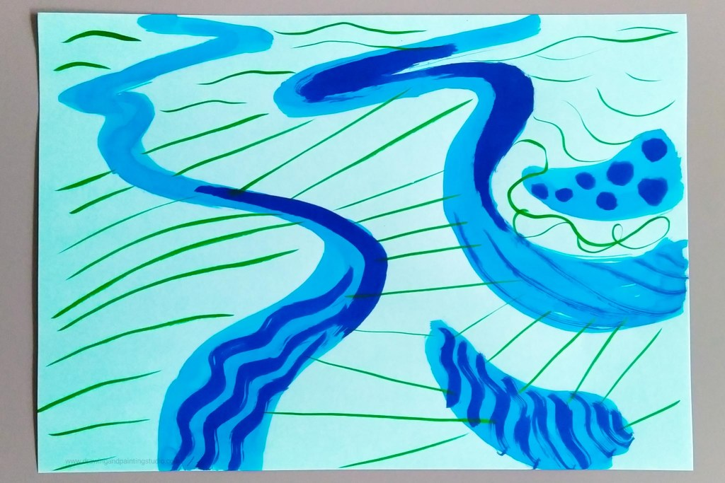 Soothing meandering lines and relaxing ripples