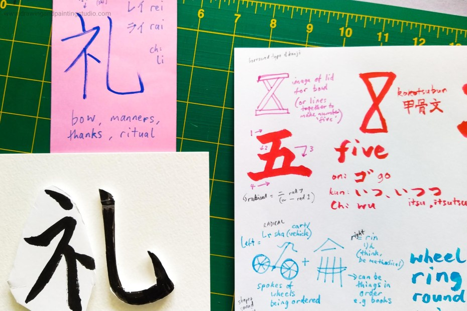 Olympic theme of 5 rings and numbers at Kanji Club