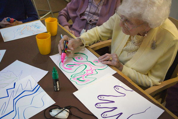 Creative wellbeing group with older people in Lanark