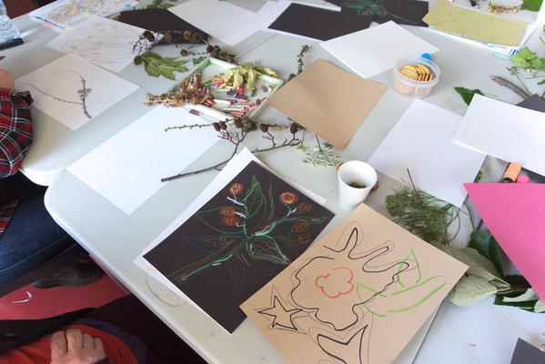 Summer drawings from the courtyard