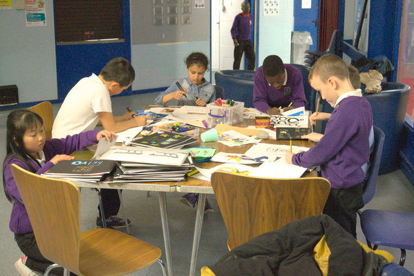 After school drawing and developing sketchbooks