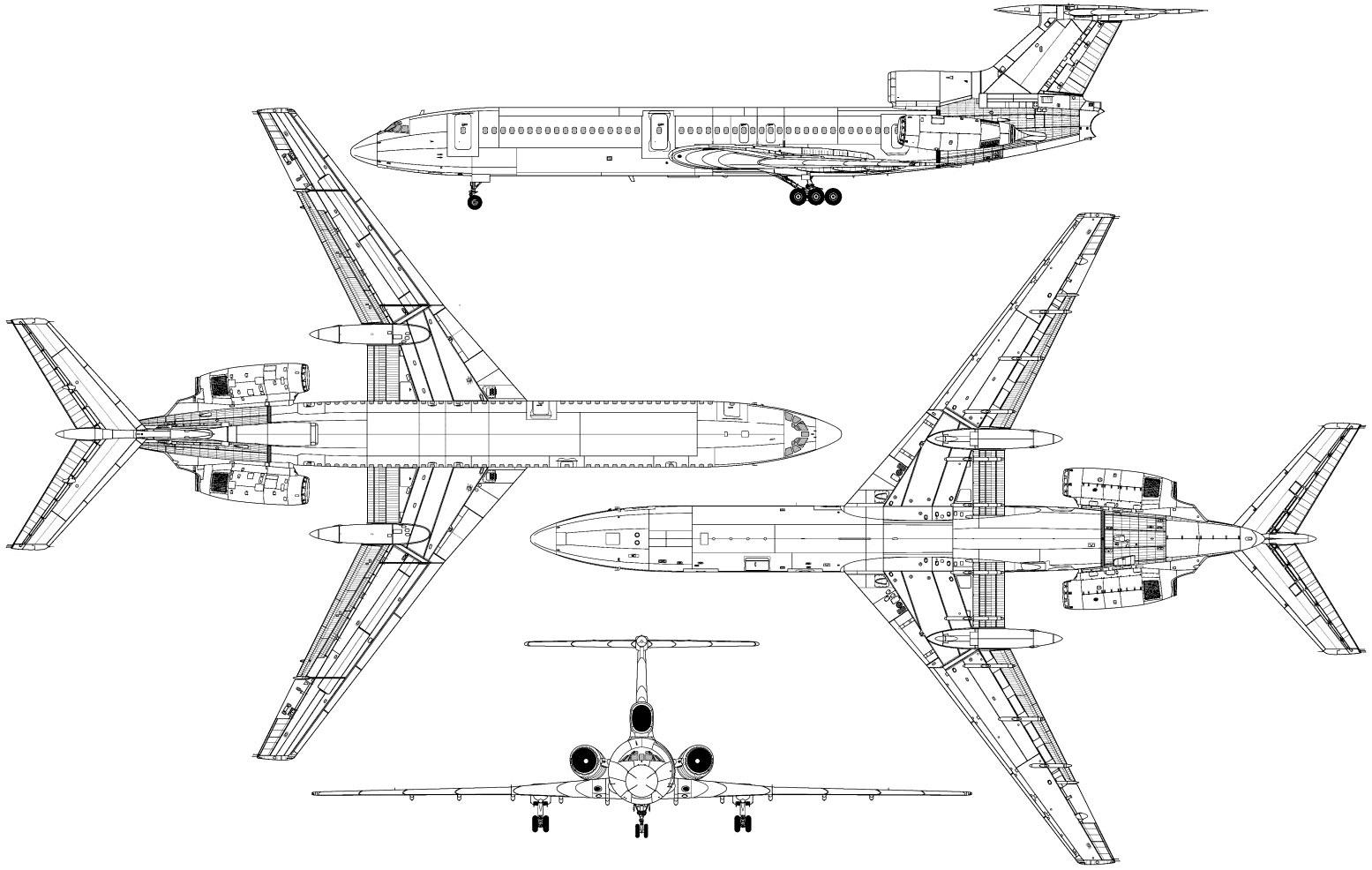 Tupolev Tu 154 Blueprint