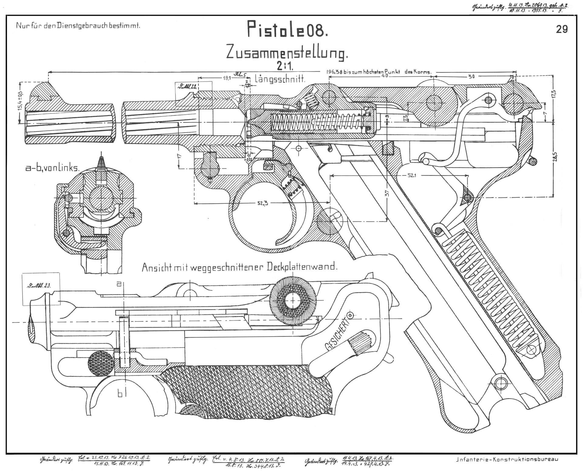 Luger P08 Blueprint Images