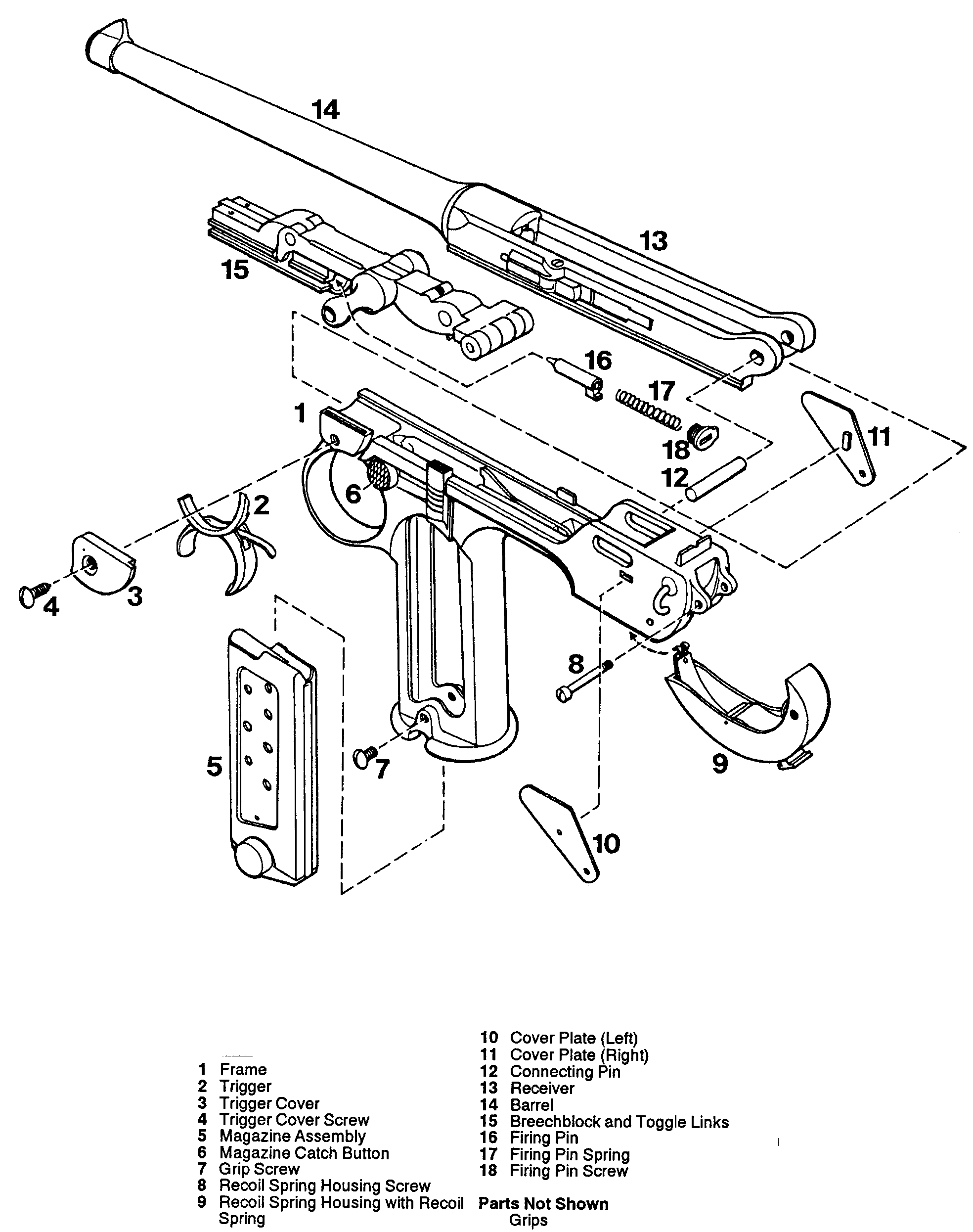 Luger p08 on car machine diagram