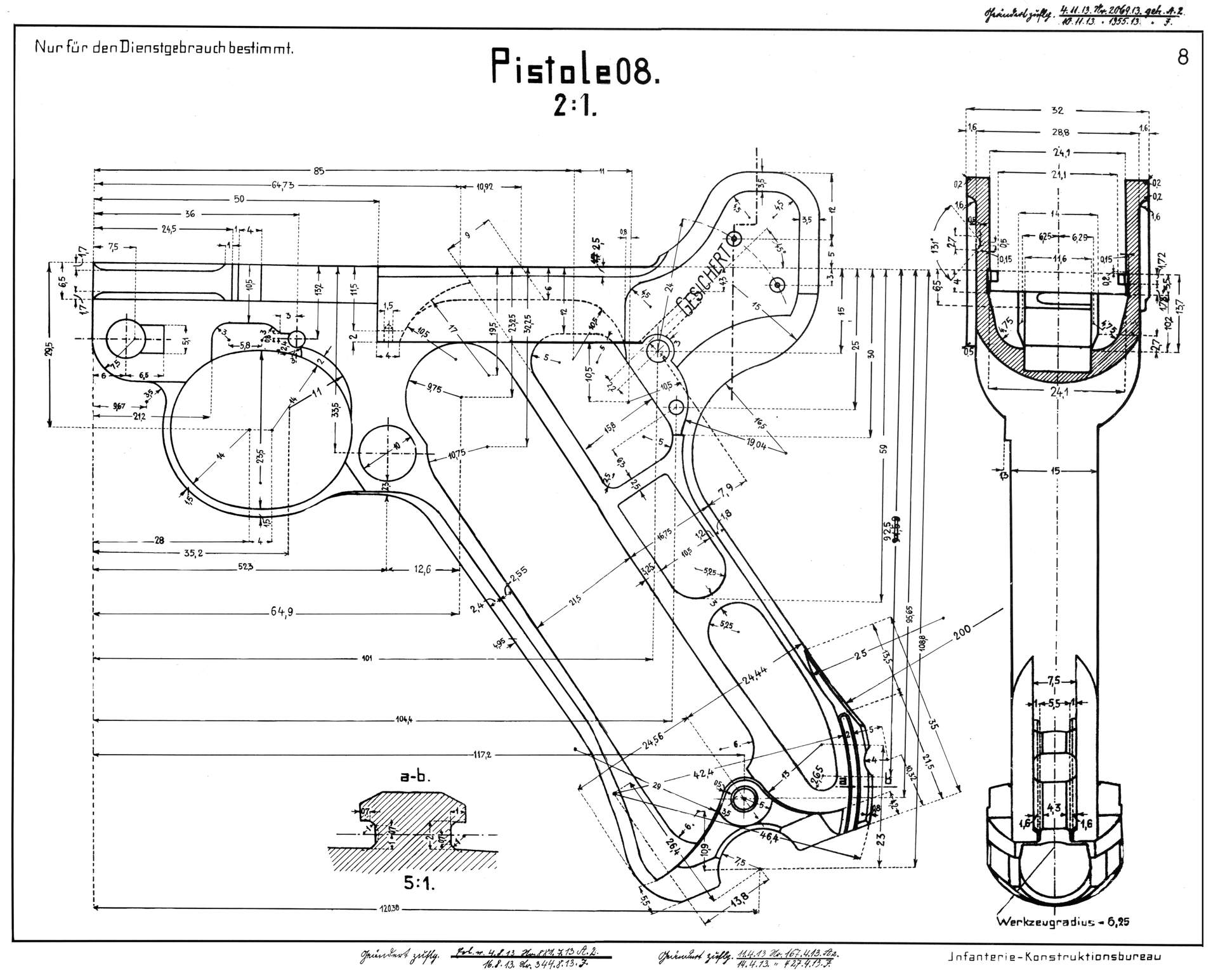 Luger P08 Blueprint