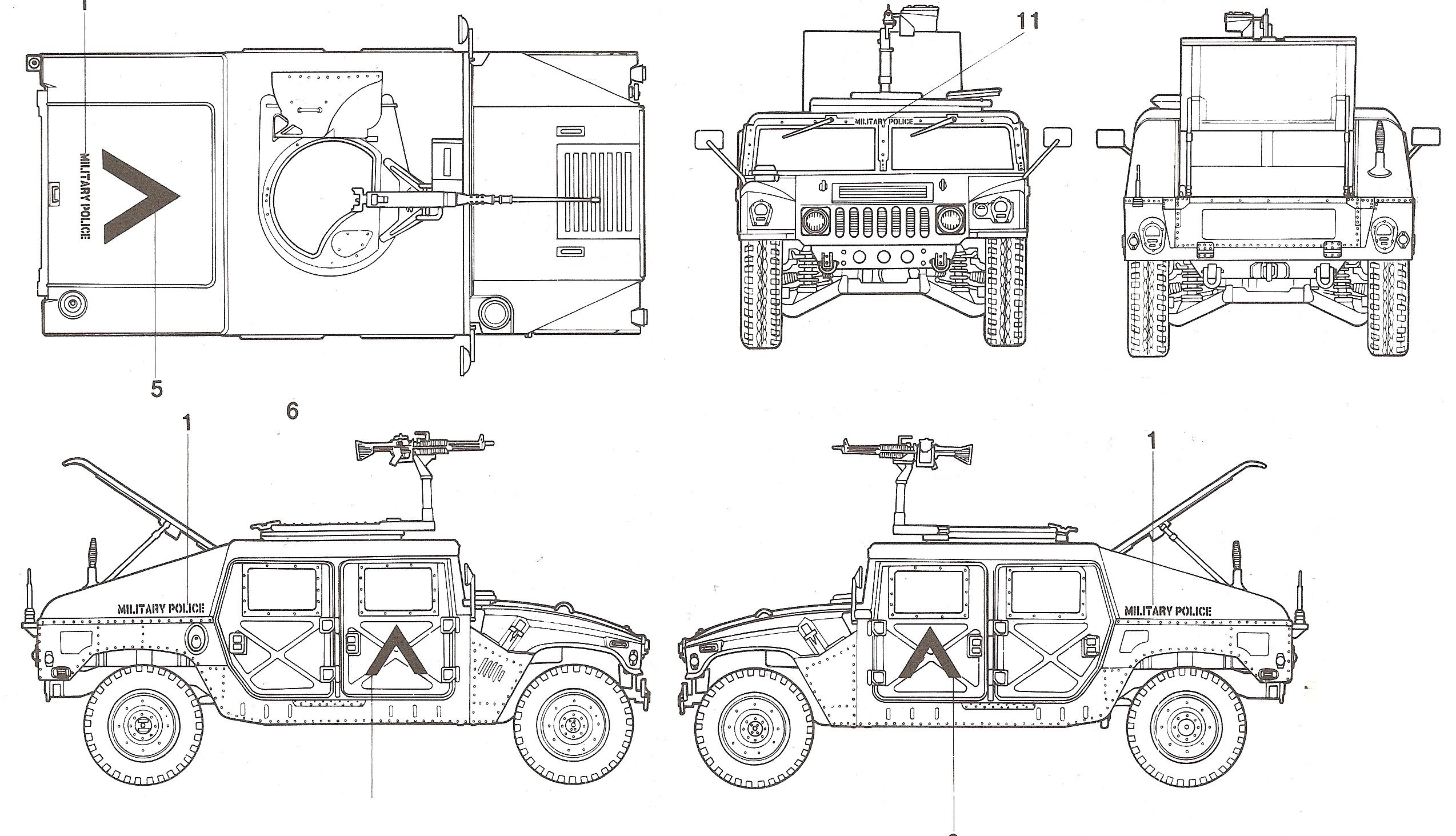 Hummer H1 M Blueprint