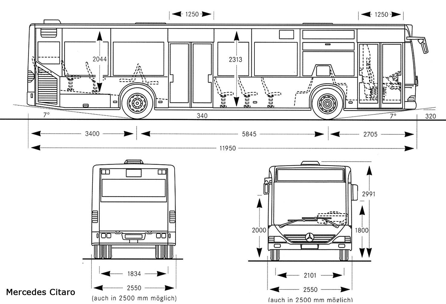 Mercedes Benz Citaro Blueprint