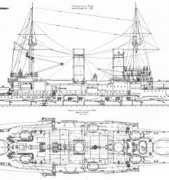 battleship slava blueprint [ 4000 x 2584 Pixel ]