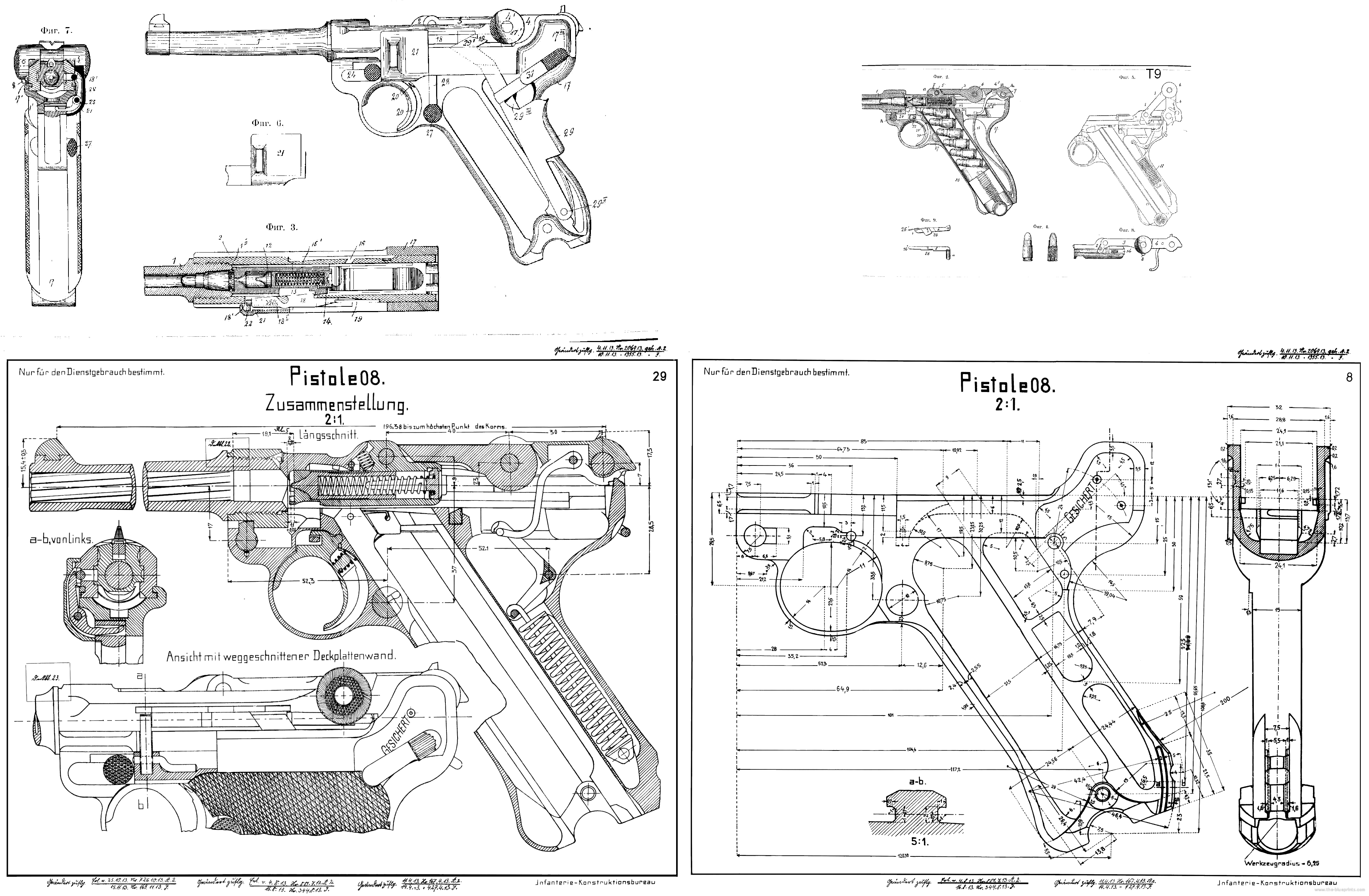 Luger P08 Blueprint