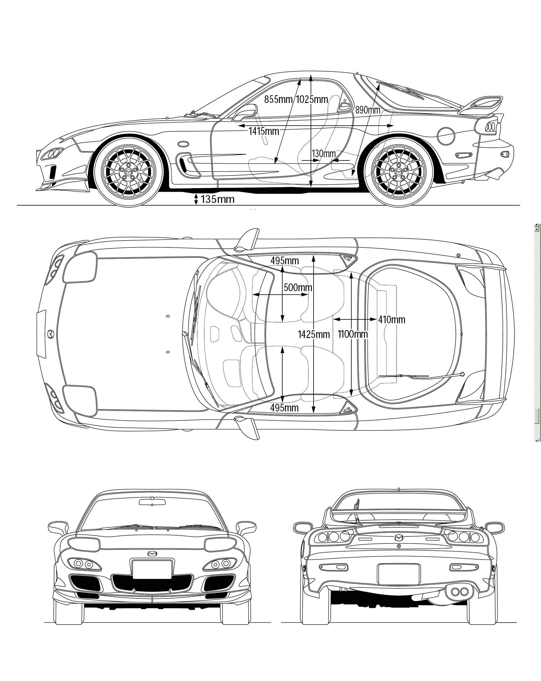 Mazda Rx 7 Fd3s Spirit R Type B Blueprint