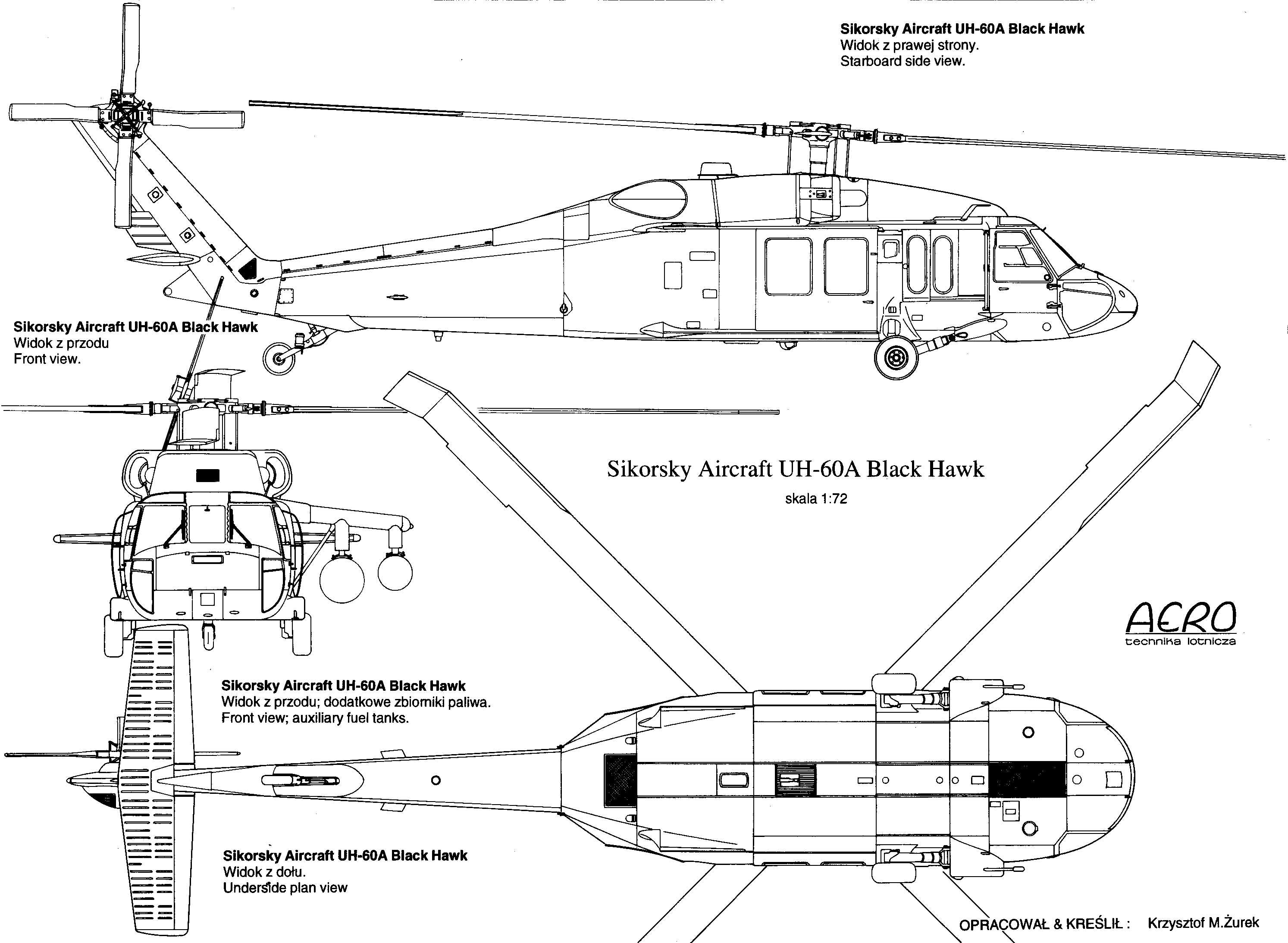 Sikorsky Uh 60 Black Hawk Blueprint